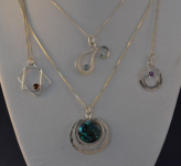 Cazenovia-Craft-Fair-Danielson four pendants -2014-04-19