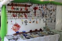 Cazenovia-Craft-Fair-I'm Melting....Glass Tent Display -2014-06-09