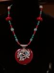 Cazenovia-Craft-Fair-Waldron MEME Copal & Turquoise Necklace -2014-04-19