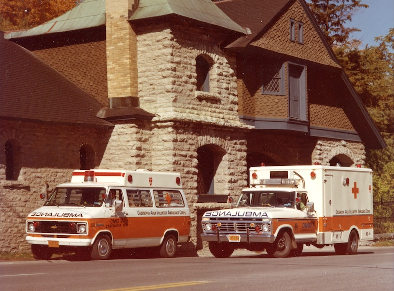 [CAVAC Headquarters and Ambulances 1975]