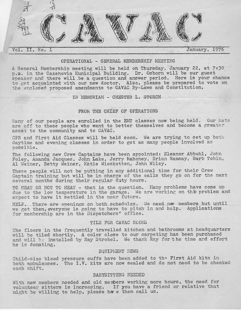 Newsletter (1976)