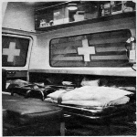 Interior of the first ambulance
