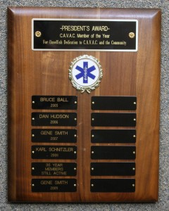 President's Award Plaque